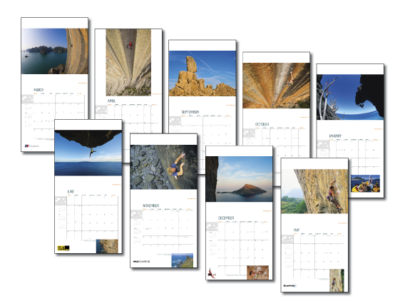 World Climbing Calendar 2012 spreads