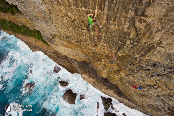 Lee Cossey, Choy Sum (23), Popeye Wall, Point Perpendicular, NSW, Australia.