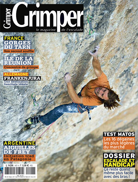 Grimper cover - Chris Sharma, La Dura Dura
