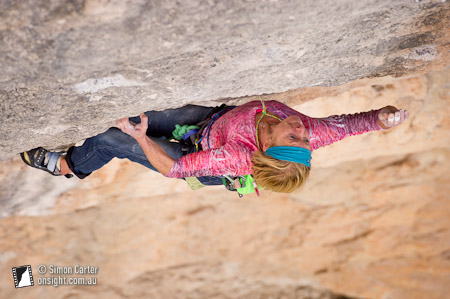 When it rained and Monique's main project was unclimbable, she turned her attention to China Crisis (8b+), sending it in just a few days.