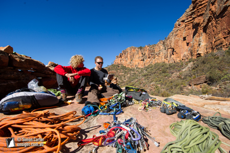 Suzy Goldner and Rob Saunders at Top Camp, Moonarie, South Australia.