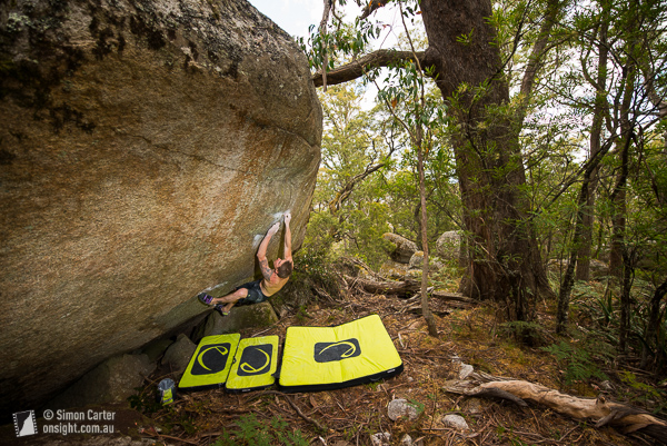 Chris Webb Parsons on Lonesome V12, Black Range near Canberra, that he established back in 2008.