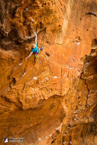 Monique Forestier, Central Latitudes (30), Muline Crag, Grampians, Victoria, Australia.