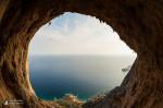 Olivier Michellod, Typhoon (7c), Crystal Cave, Telendos Island near Kalymnos, Greece.