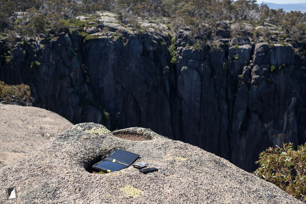 Lunchtime top-up of my iphone with the Goal Zero Guide 10 Plus, at Mt Buffalo last year.