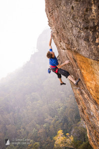 Roman Hofmann attempting Tiger Cat (33), Elphinstone.