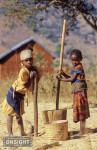 Villagers in the Tsaranoro Valley, near Camp Catta and the Tsaranoro Massif, in the southern highlands of Madagascar.