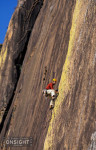 Felix Frieder, pitch three of The Swiss Guides Route (6b+, four pitches), Secteur Lemur Wall, Tsaranoro, Madagascar.
