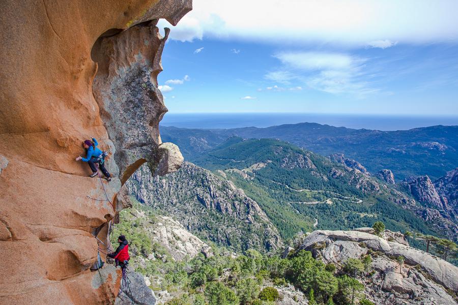 Barbara Zangerl, Delicatessen, 120m (8b), Corsica. Photo: Klaus Dell'Orto.
