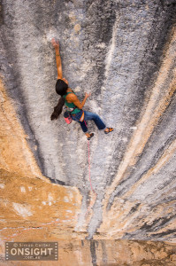 Daila Ojeda, Mind Control (8c/+), Oliana, Spain. Photo: Simon Carter.