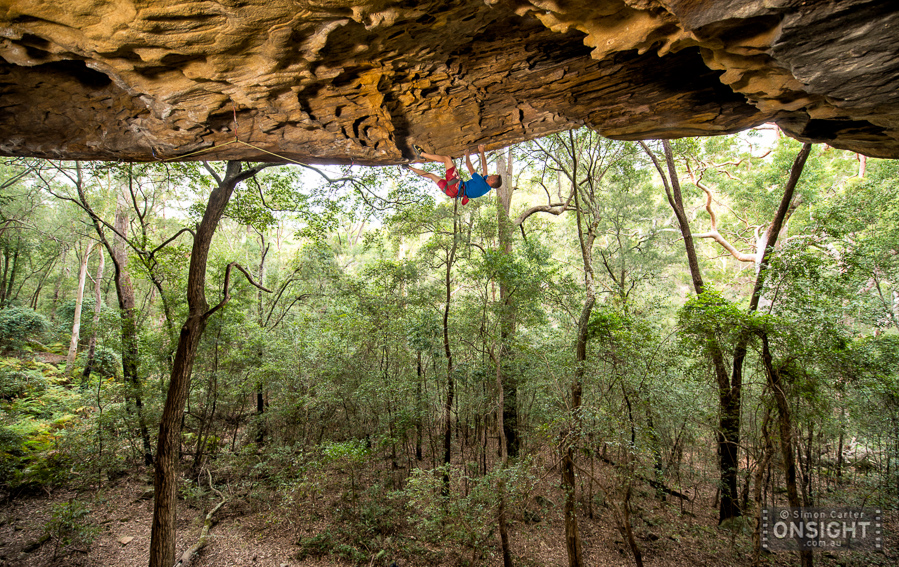 Sean Powell, Ghetto Superstar (28), The Ghetto Cave at The Hideaway, a recently discovered crag in Sydney.