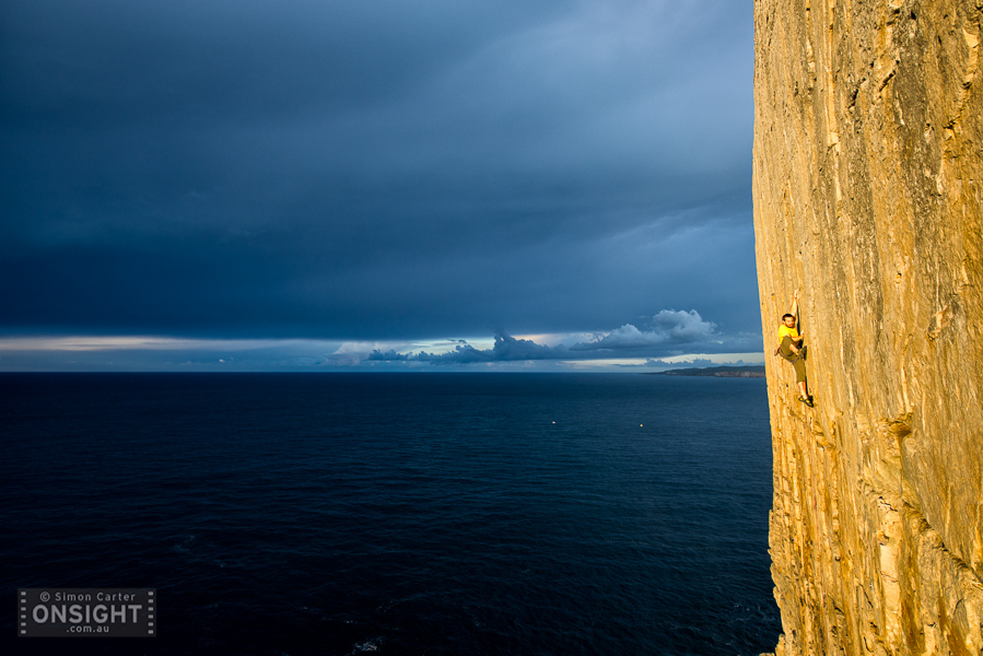 Alex Ling, Shooting the Breeze (22), Windjammer Wall, Point Perpendicular, NSW, Australia.