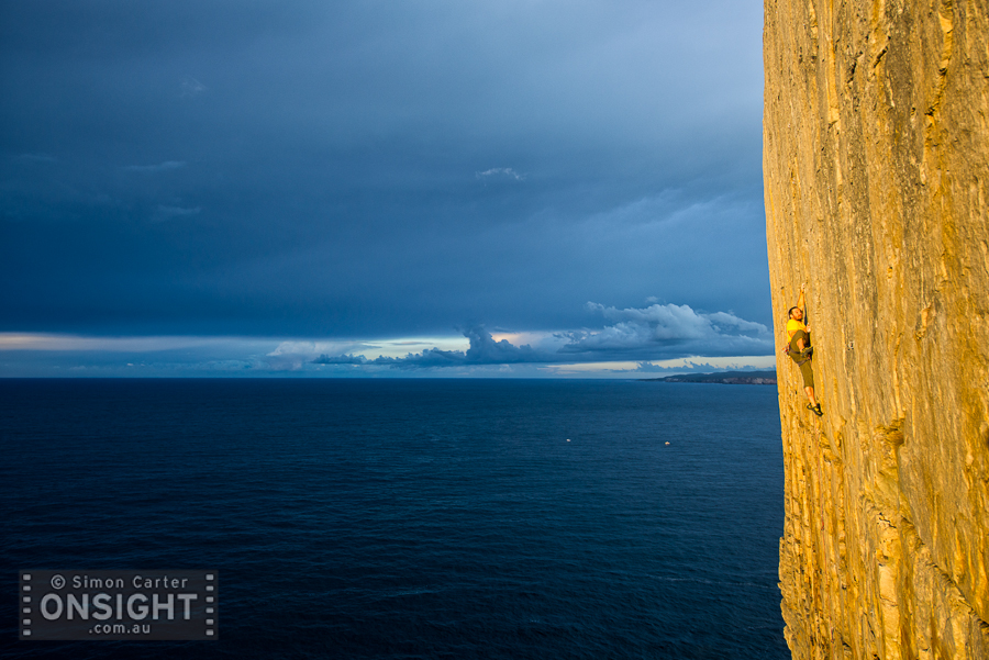Alex Ling, Shooting the Breeze (22), Windjammer Wall, Point Perpendicular. Back in June 2014.