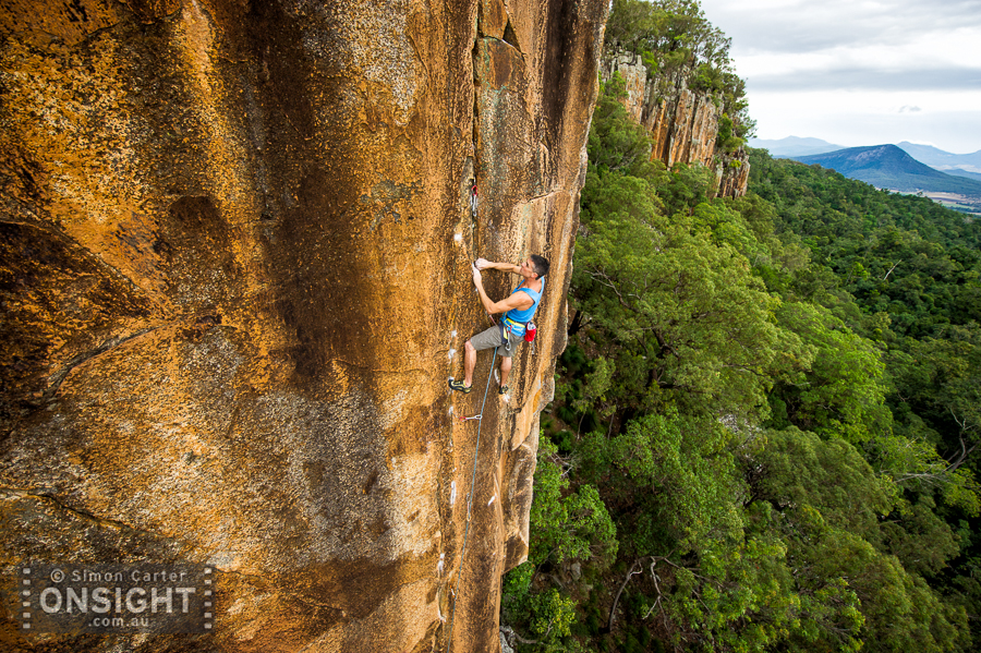 Duncan Steel, Whistling Kite (32), Frog Buttress, Queensland.