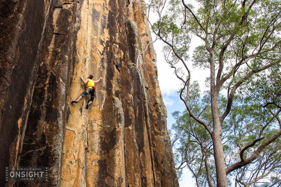 Duncan Steel, Brown Corduroy Trousers (28), Frog Buttress, Queensland.
