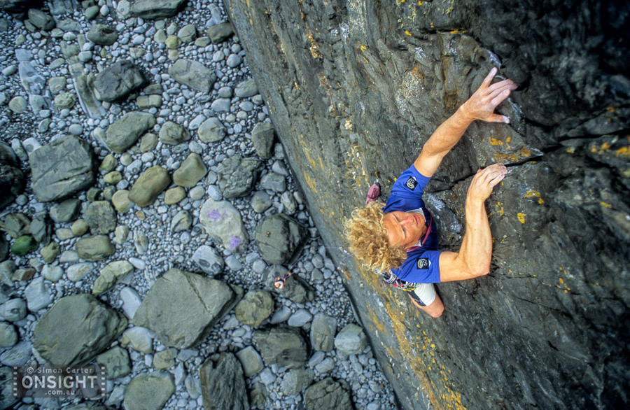 Tim Emmett, Diamond Smiles (E3 5c), Sharpnose, Cornwall, UK.