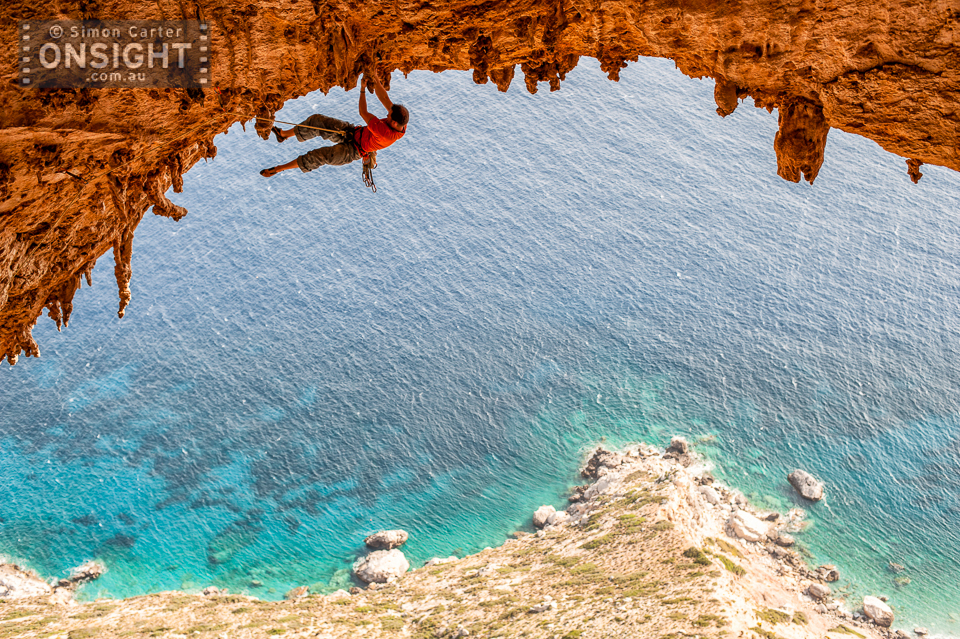 Olivier Michellod, Es Pontas (7c), Crystal Cave, Telendos Island