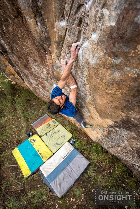 Niky Ceria, Survival of the Prettiest (V12), Southern Grampians, Victoria, Australia.